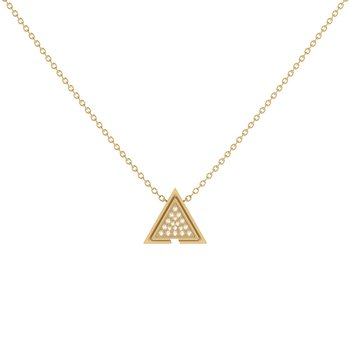 Skyscraper Triangle Necklace in 14 KT Yellow Gold Vermeil on Sterling Silver