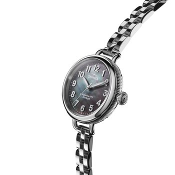 The Birdy 34mm Gray Mother of Pearl Stainless Bracelet Watch