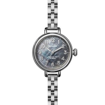 Watch: Birdy 3H 34mm, MOP Silver Bracelet
