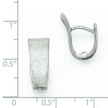 Leslie's Sterling Silver Rhodium-plated Textured Hoop Earring