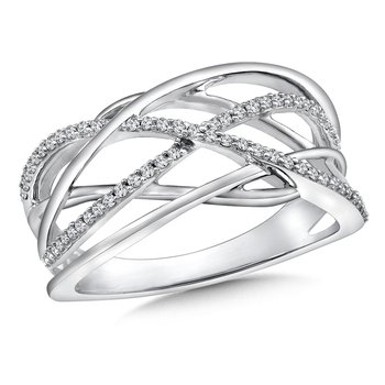 Weave Diamond Ring in 14K White Gold (.18 ct. tw.)