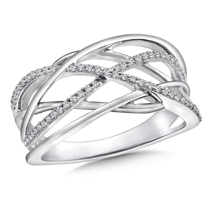 SDC Creations Weave Diamond Ring in 14K White Gold (.18 ct. tw.)