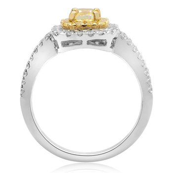 Stacked Pave Yellow Diamond Ring