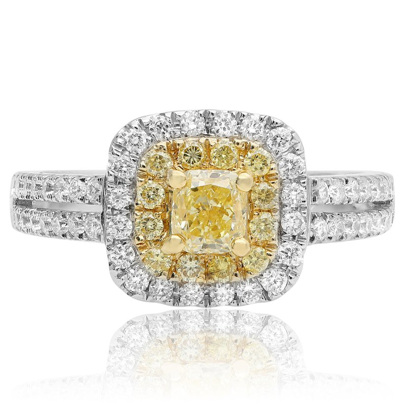 Roman & Jules Stacked Pave Yellow Diamond Ring