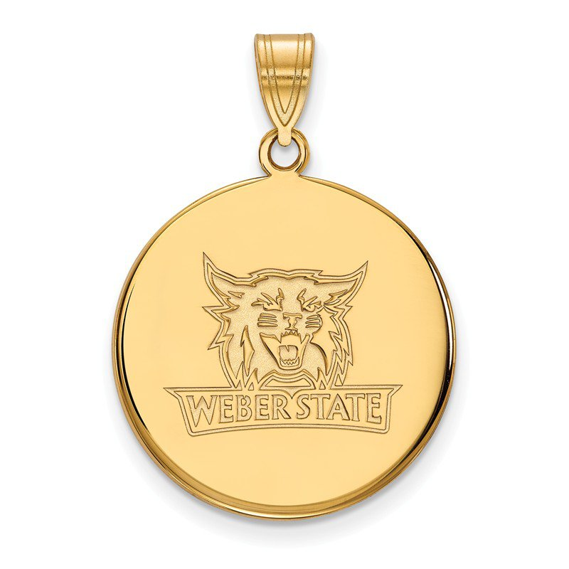 NCAA Gold-Plated Sterling Silver Weber State University NCAA Pendant
