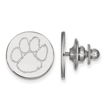 Sterling Silver Clemson University NCAA Lapel Pin