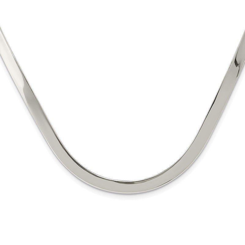 Quality Gold Sterling Silver 5mm Polished Neck Collar