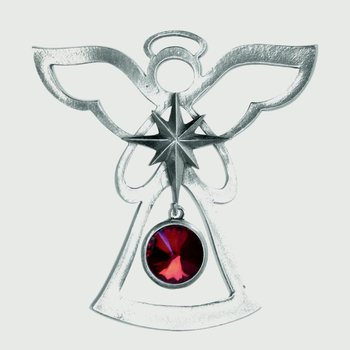 Birthstone Angel Ornament - January