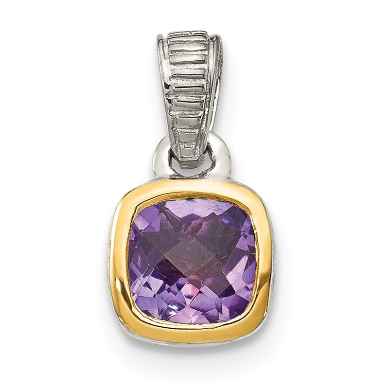 Shey Couture Sterling Silver w/ 14K Accent Amethyst Pendant
