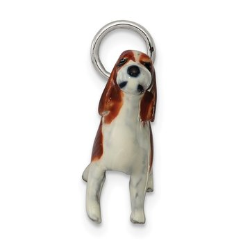 Sterling Silver Enameled English Springer Spaniel Charm