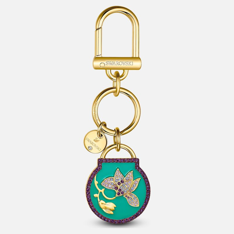 Swarovski Togetherness Key Ring, Blue, Gold-tone plated