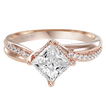 Twist Rose Gold Engagement Semi