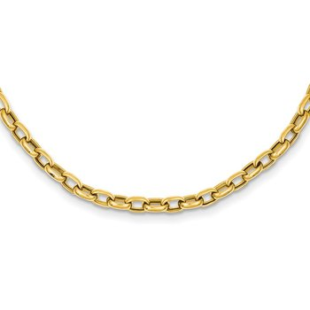 14k 18in 4.5mm Polished Fancy Link Necklace