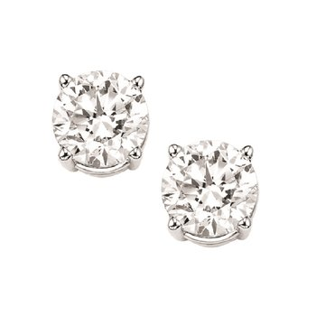 Diamond Stud Earrings in 14K White Gold (1 1/4 ct. tw.) I1/I2 - G/H