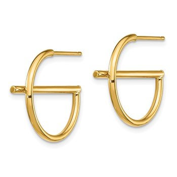 14K Split Circle Post Earrings