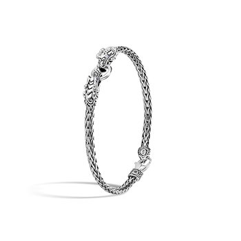 Bamboo 4MM Bracelet in Silver