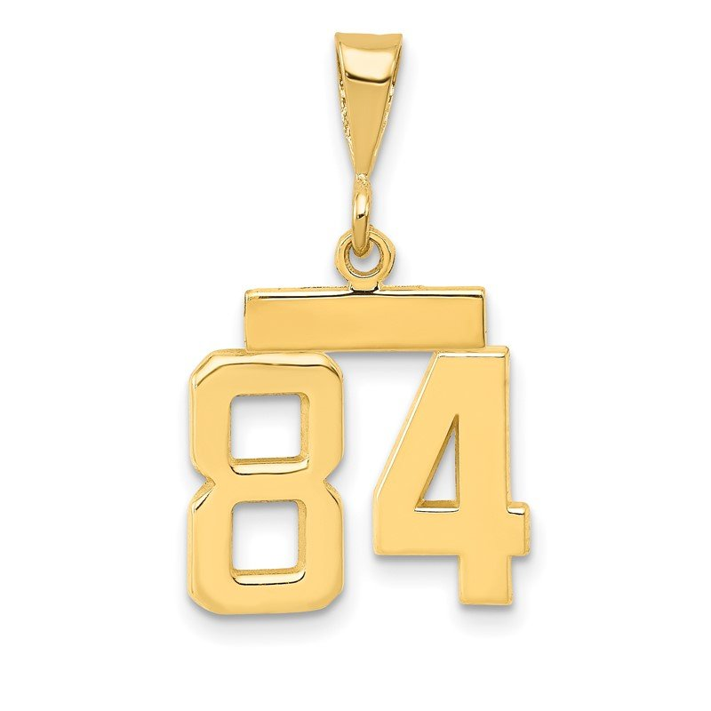 Quality Gold 14k Small Polished Number 84 Charm