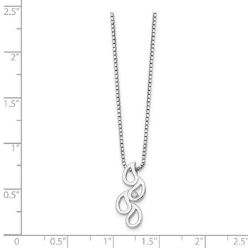 SS White Ice Diamond Raindrop Slide Necklace