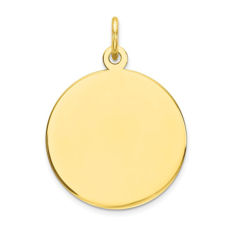 Quality Gold 10K Plain .013 Gauge Circular Engravable Disc Charm