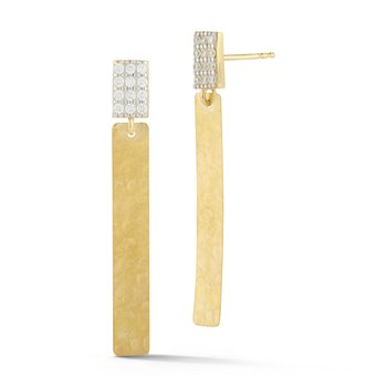 14KY DROP STICK EARRINGS .15CT