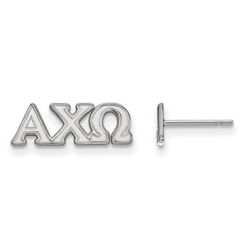 Sterling Silver Alpha Chi Omega Greek Life Earrings