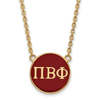 Gold-Plated Sterling Silver Pi Beta Phi Greek Life Necklace