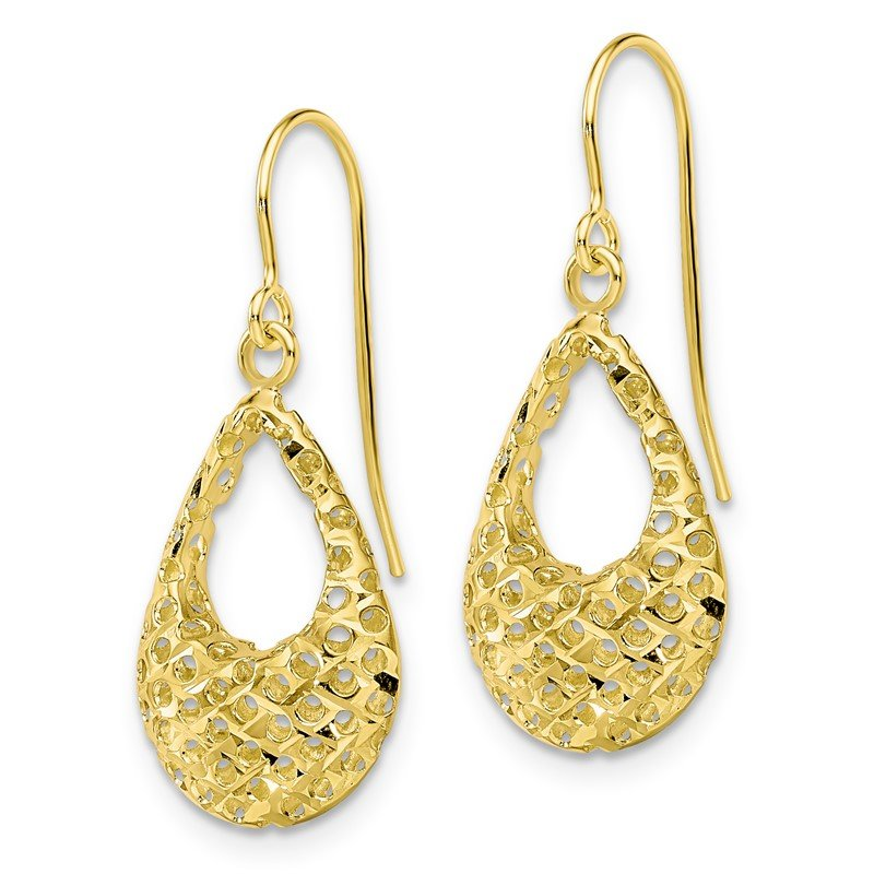 Leslie's Leslie's 10K Textured D/C Shepherd Hook Dangle Earrings