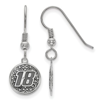 Sterling Silver 18 Kyle Busch NASCAR Earrings