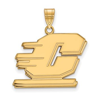 Gold Central Michigan University NCAA Pendant