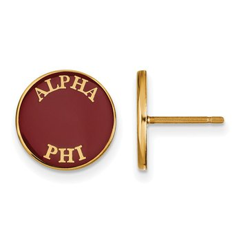 Gold-Plated Sterling Silver Alpha Phi Greek Life Earrings