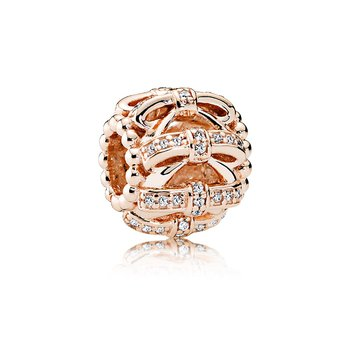 Shimmering Sentiments Charm, PANDORA Rose™ & Clear CZ