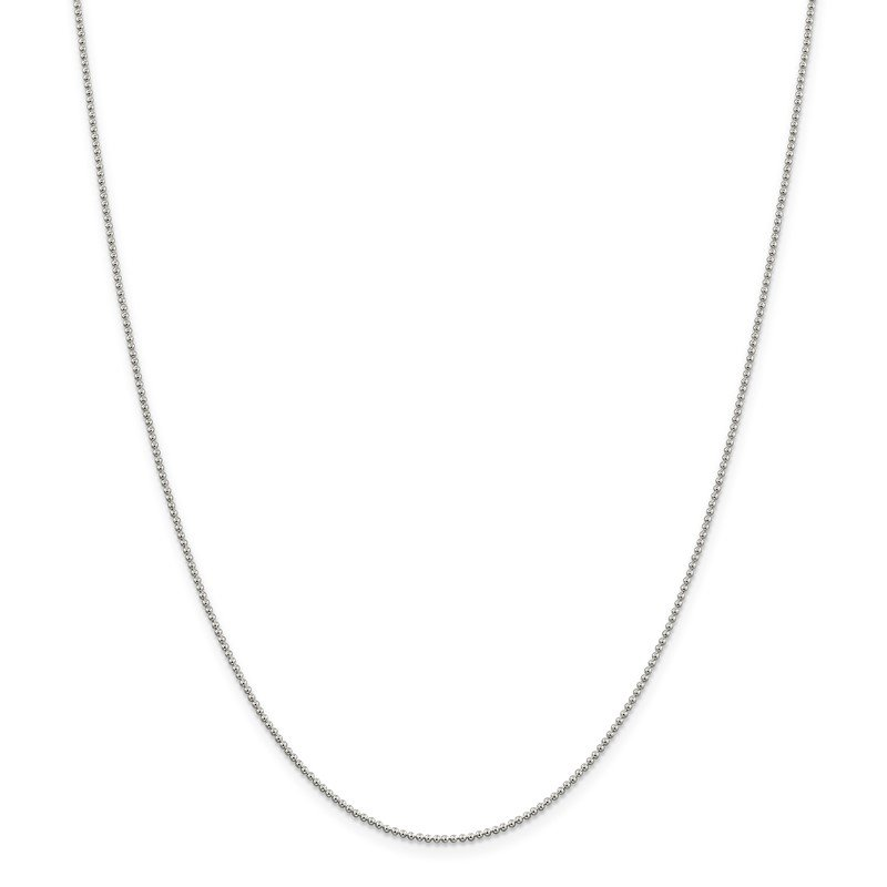 Lester Martin Online Collection Sterling Silver 1.25mm Beaded Chain
