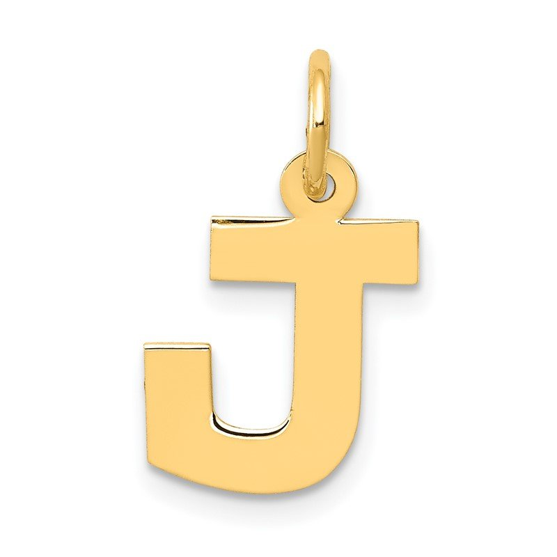 Quality Gold 14k Small Block Letter J Initial Charm