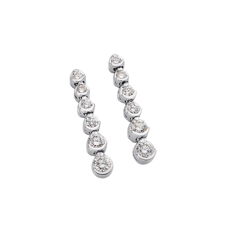 S. Kashi  & Sons White Gold Tennis Earring