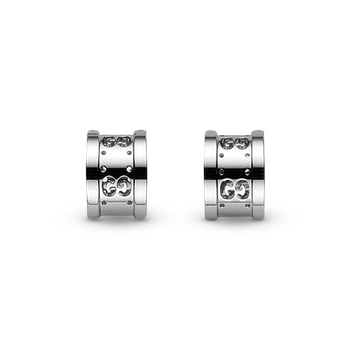 Gucci 18kt white gold Icon Swirl earrings. Available at our Halifax store.