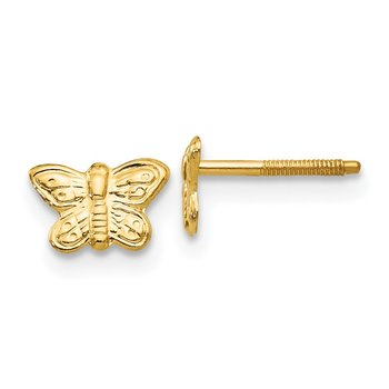 14k Madi K Polished Butterfly Screwback Earrings
