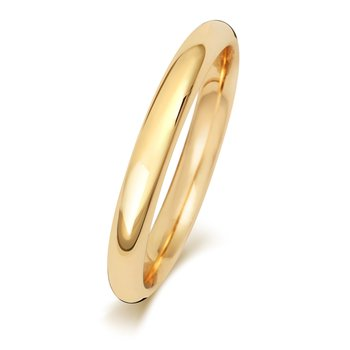 18Ct Yellow Gold 2.5mm Traditional Court Wedding Ring