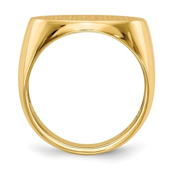 14k 13.0x19.0mm Open Back Mens Signet Ring