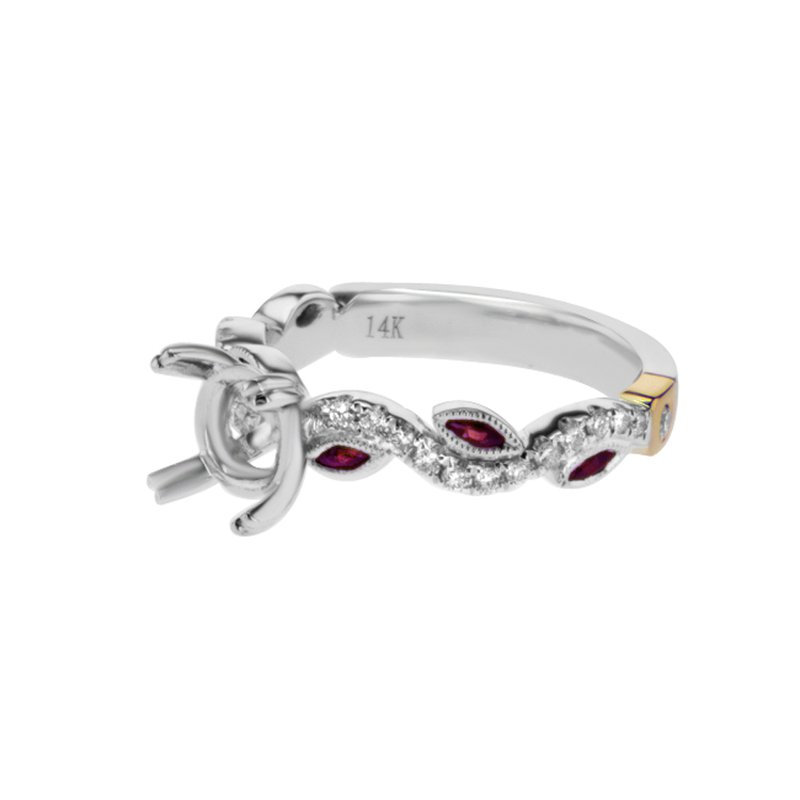 S. Kashi & Sons Bridal White Gold & Ruby Engagement Ring