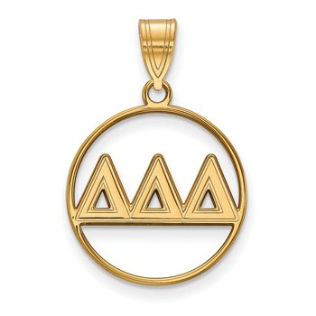 Gold-Plated Sterling Silver Delta Delta Delta Greek Life Pendant