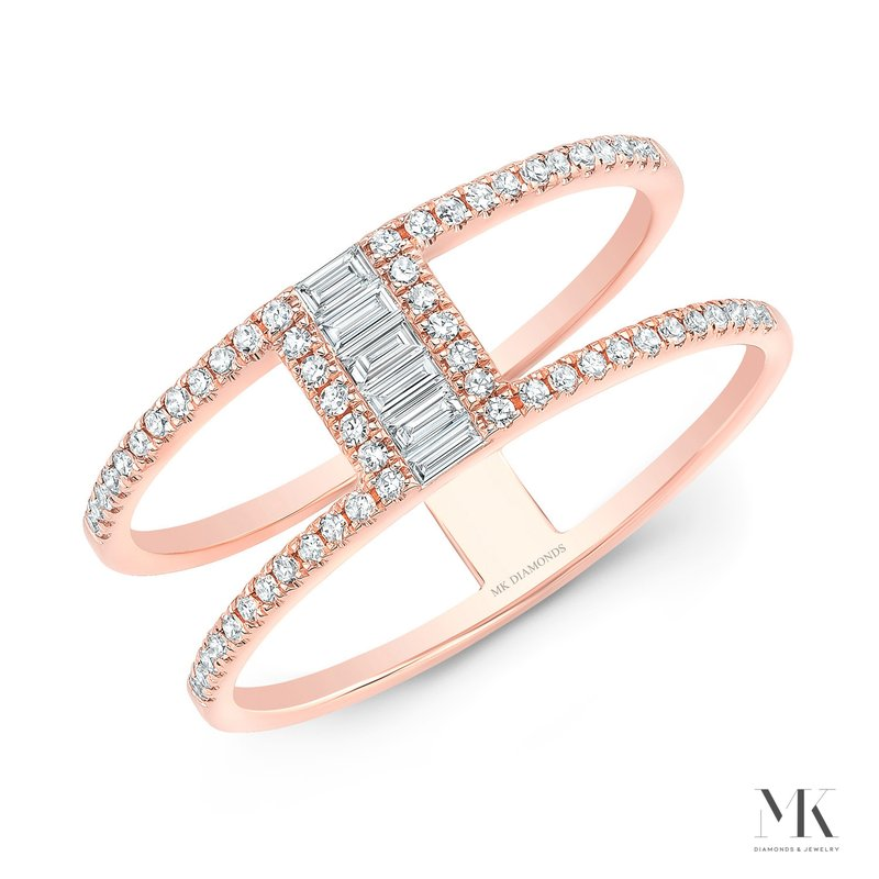 Robert Palma Designs Rose Gold Two Row Baguette Ring