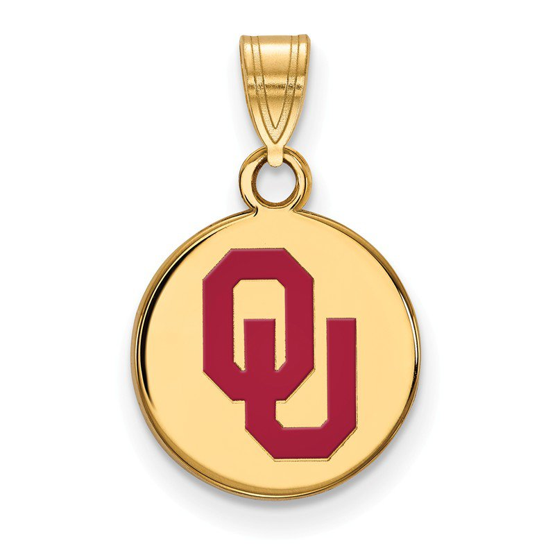 NCAA Gold-Plated Sterling Silver University of Oklahoma NCAA Pendant