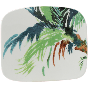 Vegetal Organic Square Plate, Small