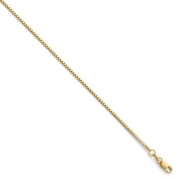 Leslie 14K 1.2 mm Box Chain w/Lobster Chain