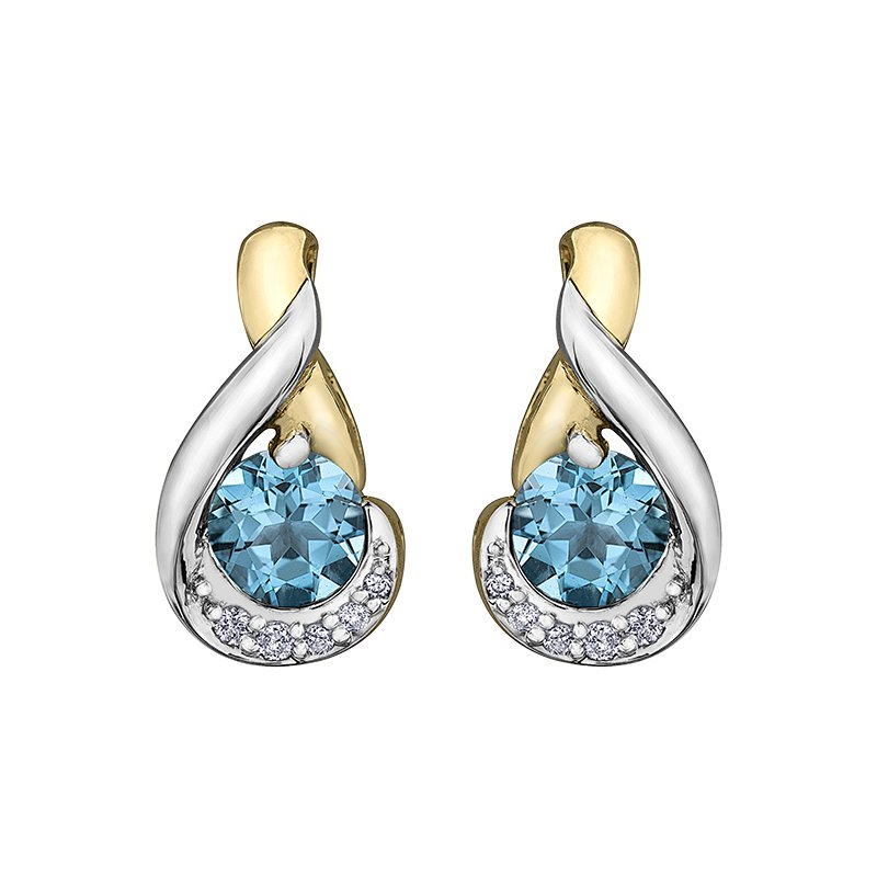 Timeless Beauty Blue Topaz Earrings