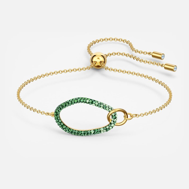 Swarovski The Elements Bracelet, Green, Gold-tone plated