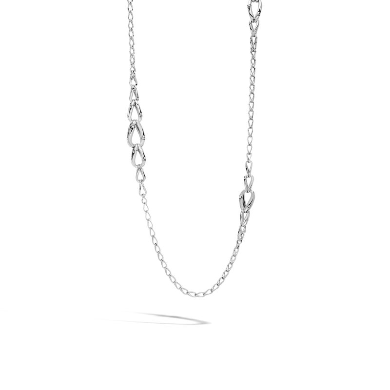 JOHN HARDY Bamboo 14MM Graduated Link Necklace in Silver