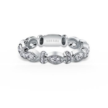 Diamond Designer Geometric Bar Wedding Band