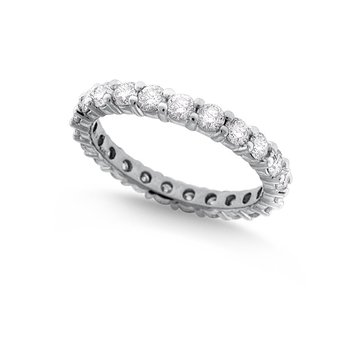Diamond Eternity Band in 14k White Gold with 23 Diamonds weighing 1.64ct tw.