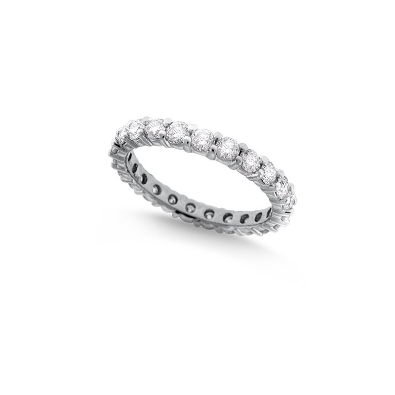 MAZZARESE Fashion Diamond Eternity Band in 14k White Gold with 23 Diamonds weighing 1.64ct tw.